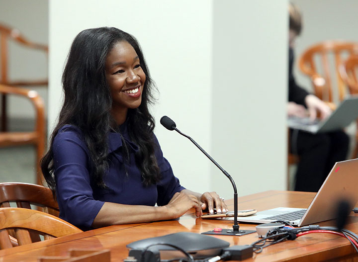 State Rep. Kyra Bolden (D-Southfield) testified in the House Committee on the Judiciary on June 1, 2021.