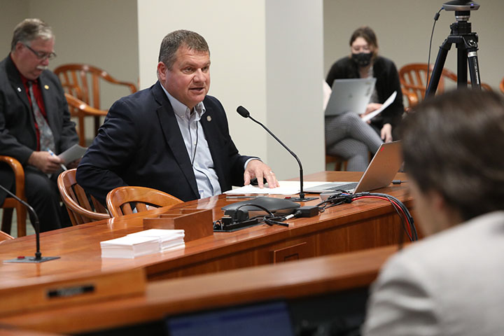 State Rep. Terry Sabo (D-Muskegon) spoke to House Bill 4647, which would provide tax exemptions for certain residential rehabilitation projects, in the House Committee on Local Government and Municipal Finance on June 2, 2021.