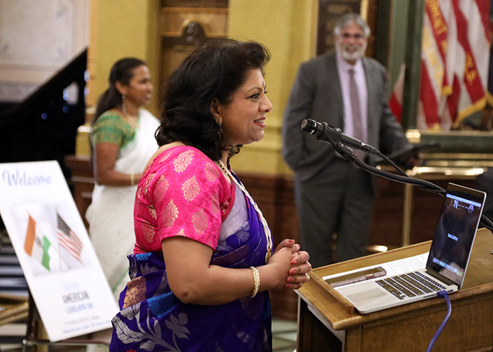 State Rep. Padma Kuppa (D-Troy) hosted dozens of guests for Indian American Legislative Day in the Capitol Rotunda on June 8, 2021.