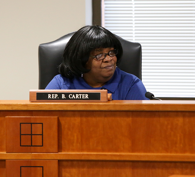 State Rep. Brenda Carter (D-Pontiac) in the House Education Committee on Tuesday, March 13, 2019.