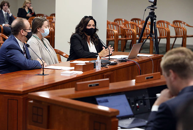 State Rep. Angela Witwer (D-Delta Township) testified on HB 5163 in the House Committee on Health Policy on September 30, 2021. The bill requires certain hospitals to provide emergency-based medication-assisted treatment (MAT) programs and provides grants to fund them.